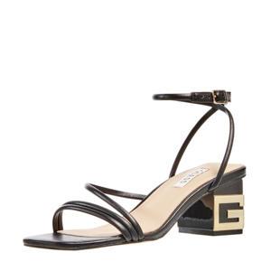Macre  leren sandalettes zwart