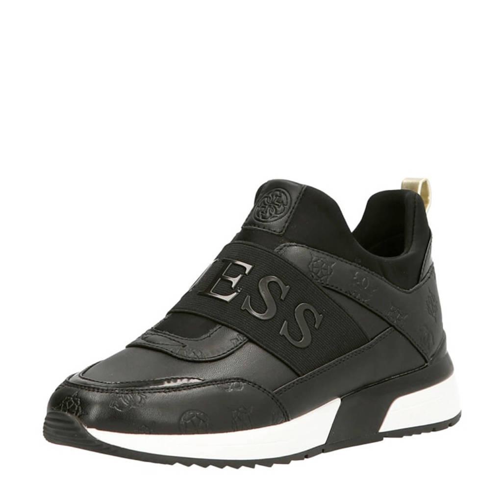 GUESS Maygin  sock sneakers zwart, Zwart