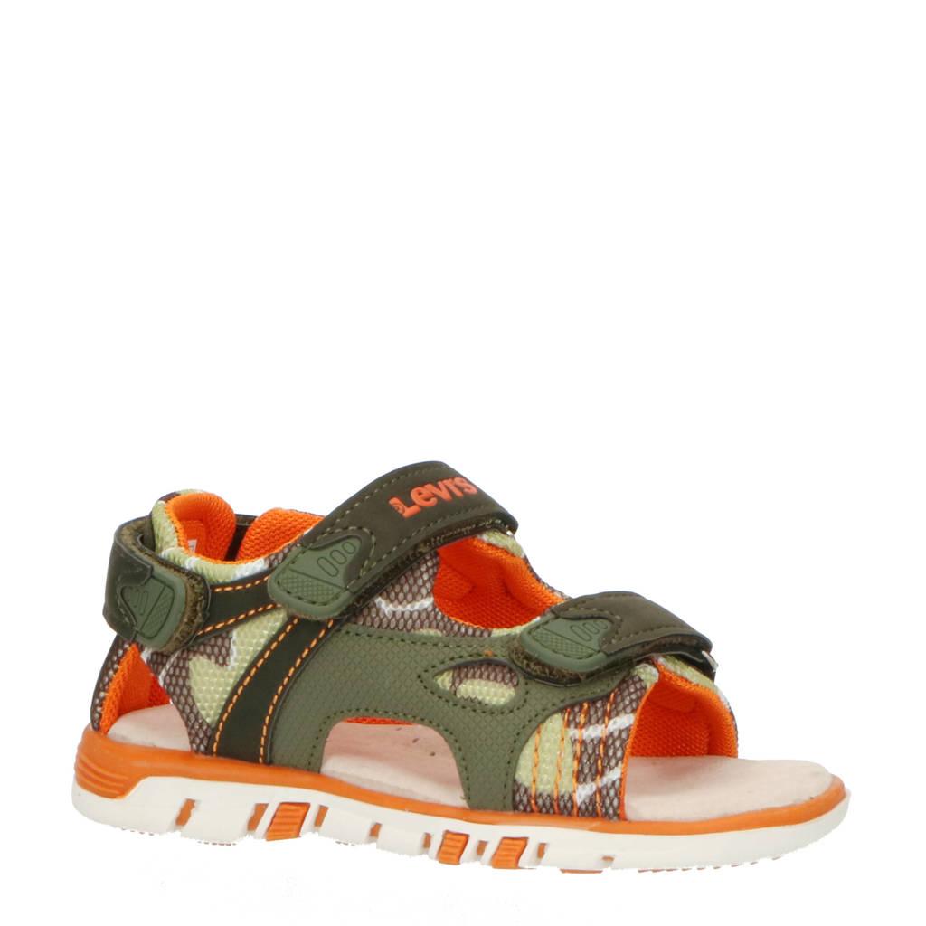 Levi's Kids Richmond TD  sandalen met camouflageprint groen, Groen/oranje