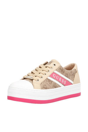 Barona  plateau sneakers beige/roze