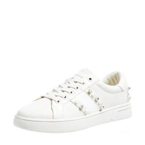 Ricena  sneakers met sierstenen wit