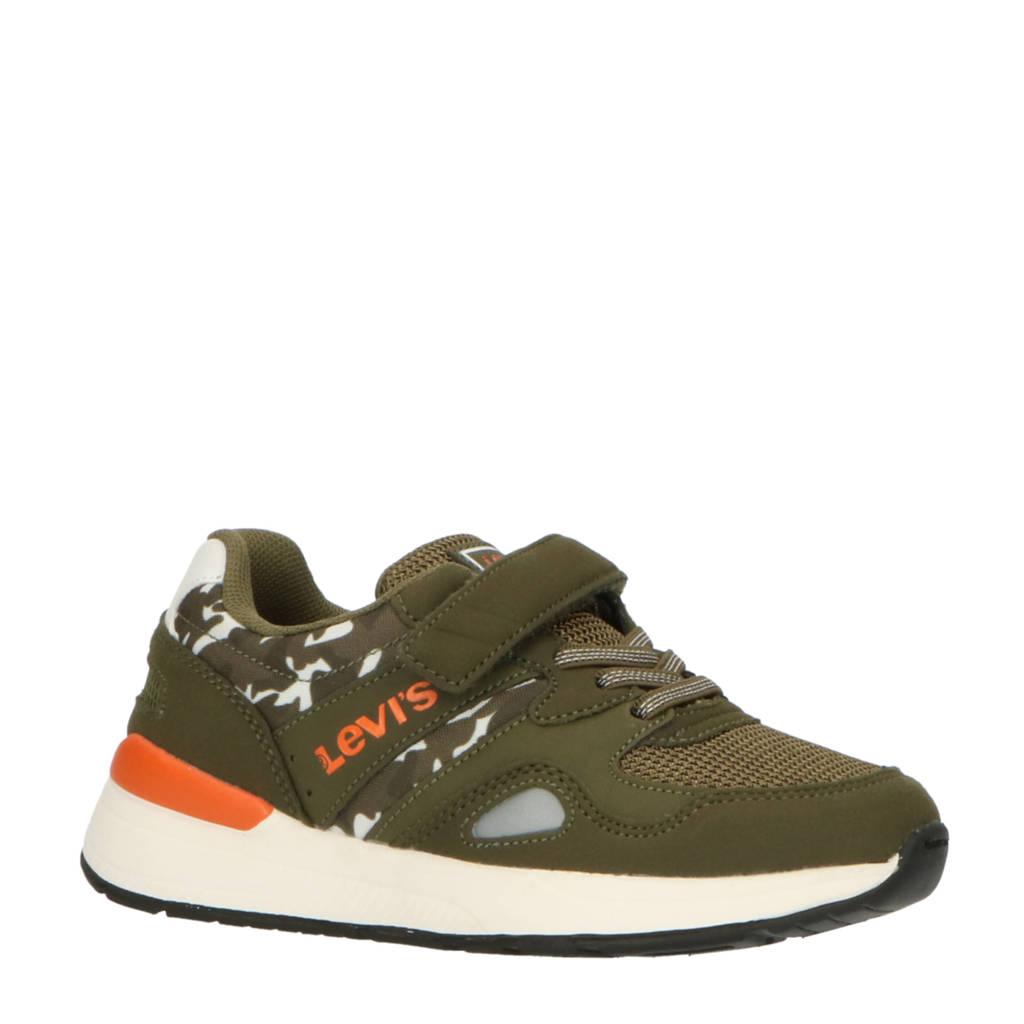 Levi's Kids Boston Camo K  sneakers met camouflageprint groen, Groen/oranje