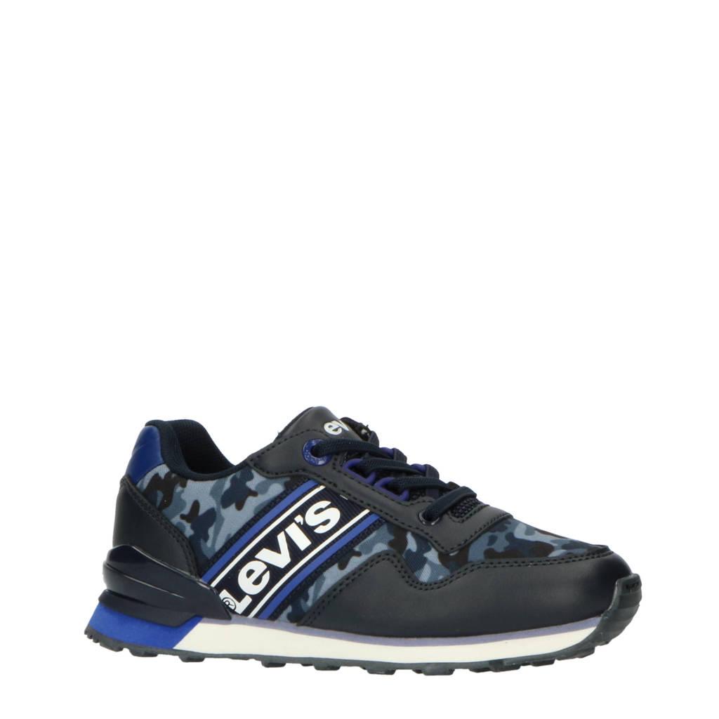 Levi's Kids New Springfield Camo K  sneakers met camouflageprint blauw, Donkerblauw/blauw