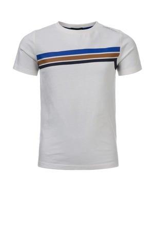 T-shirt Tim van biologisch katoen off white/multicolor