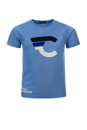 T-shirt Timo van biologisch katoen zachtblauw