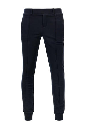 slim fit joggingbroek Boot met zijstreep donkerblauw