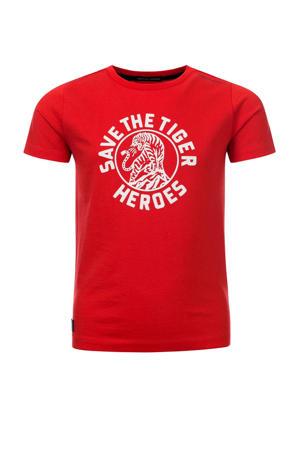 T-shirt Tim van biologisch katoen rood