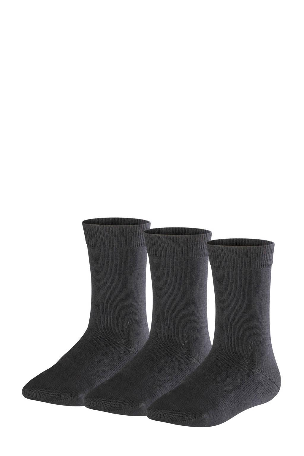 FALKE Family sokken - set van 3 zwart, Zwart