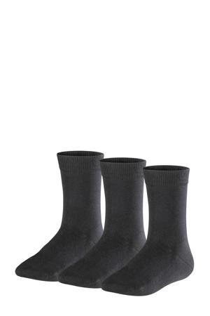 Family sokken - set van 3 zwart