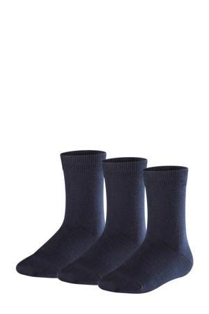 Family sokken - set van 3 donkerblauw