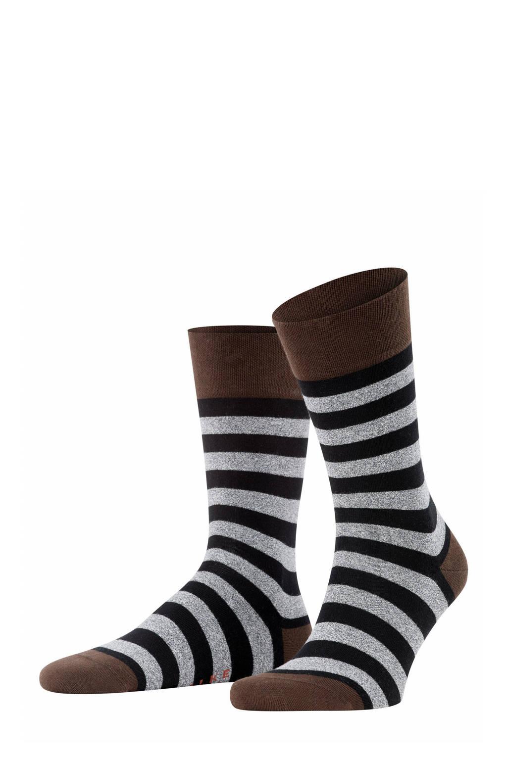 FALKE Sensitive Mapped Line sokken zwart/grijs, Zwart/grijs