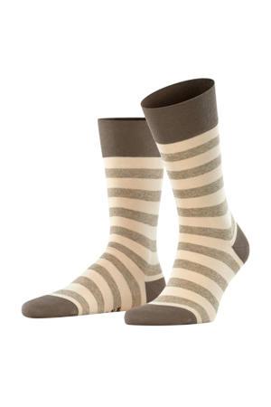 Sensitive Mapped Line sokken beige/olijfgroen
