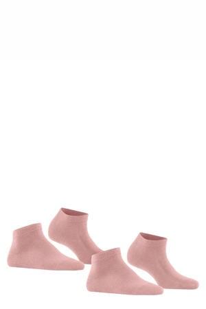 Happy DP sneakersokken - set van 2 lichtroze