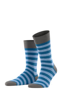 FALKE Sensitive Mapped Line sokken blauw, Blauw