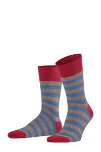 FALKE Sensitive Mapped Line sokken grijs/blauw, Grijs/blauw