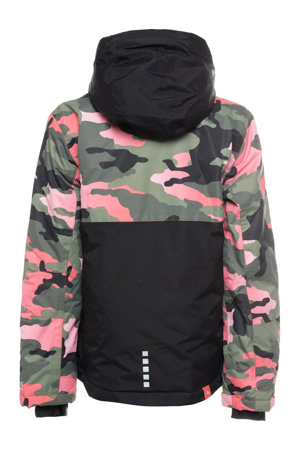 Mountain Peak jack zwart/groen/roze, Zwart/groen/roze