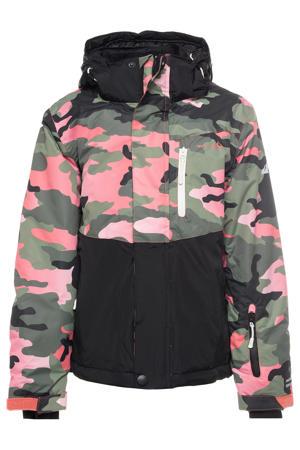 Mountain Peak ski-jack zwart/groen/roze