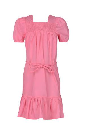 maxi jurk Niya met plooien roze