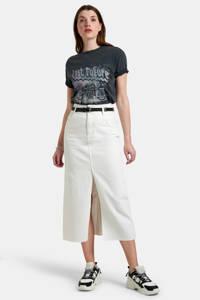 Eksept by Shoeby T-shirt Lexie met printopdruk donkergrijs, Donkergrijs