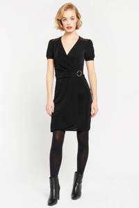 LOLALIZA jurk met kant zwart, Zwart
