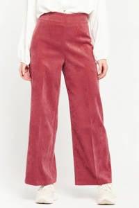 LOLALIZA fluwelen high waist flared broek cosmi pink, COSMI PINK