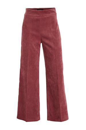 fluwelen high waist flared broek cosmi pink