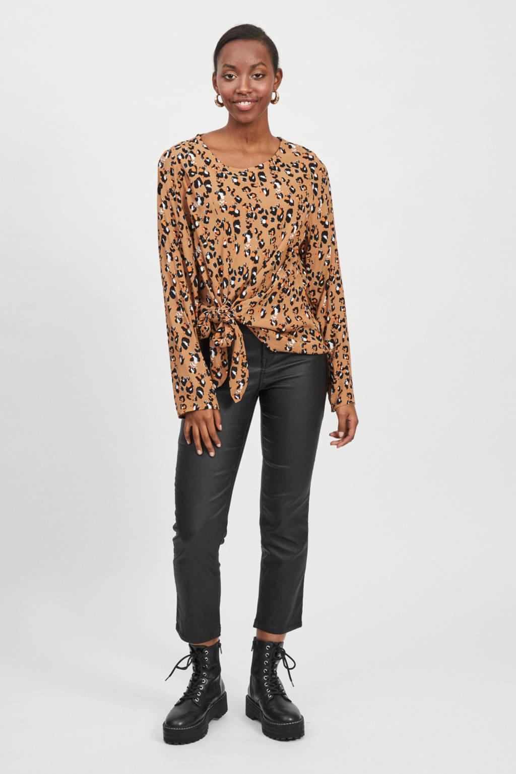 VILA blouse VIKITTIE met all over print oranje, Oranje