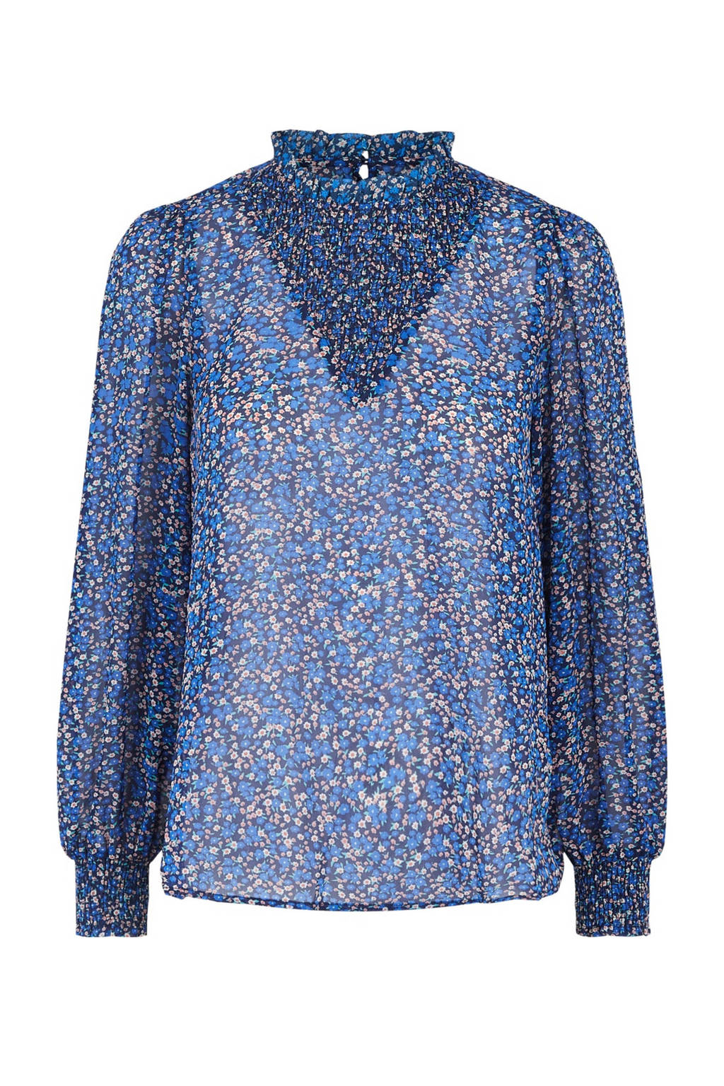 PIECES blouse PCTILLE met all over print blauw, Blauw