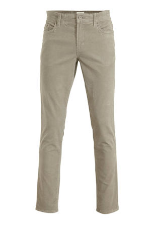 corduroy regular fit broek beige