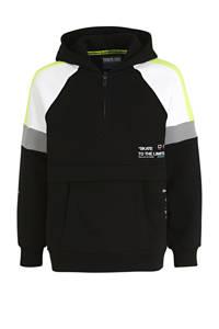 C&A Here & There hoodie zwart/wit/geel, Zwart/wit/geel