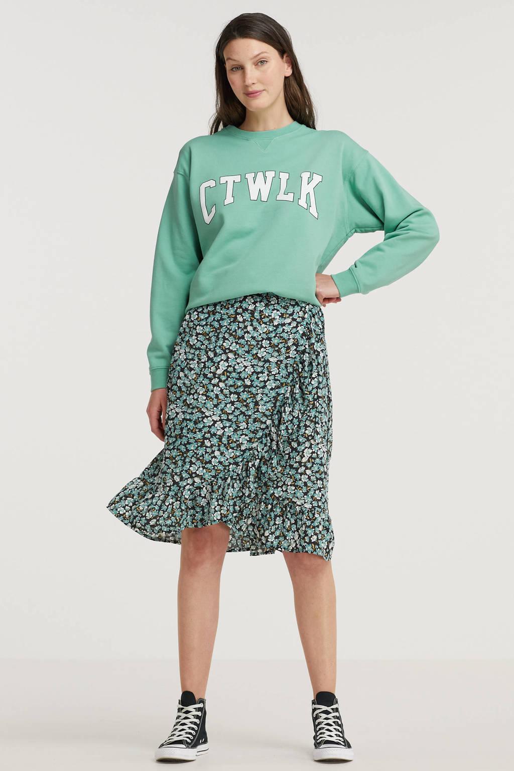 Catwalk Junkie trui Ctwlk van biologisch katoen groen, Groen