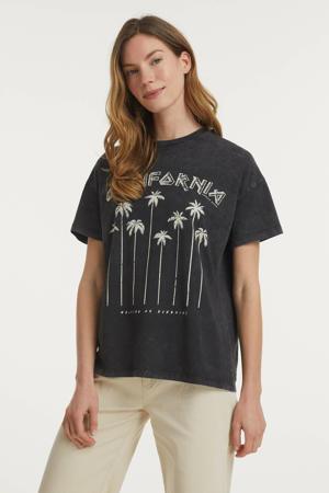 T-shirt California van biologisch katoen donkergrijs