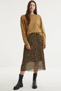 Catwalk Junkie semi-transparante rok El Tigre Sheer met dierenprint camel, Camel