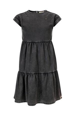 A-lijn jurk met volant donkergrijs