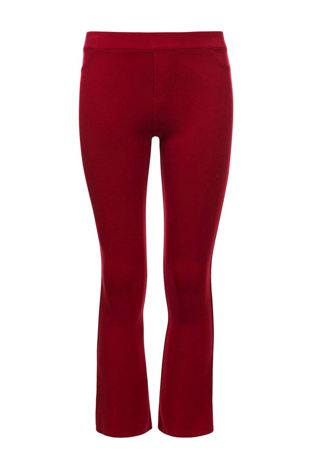 LOOXS 10sixteen flared broek met zijstreep rood, Rood