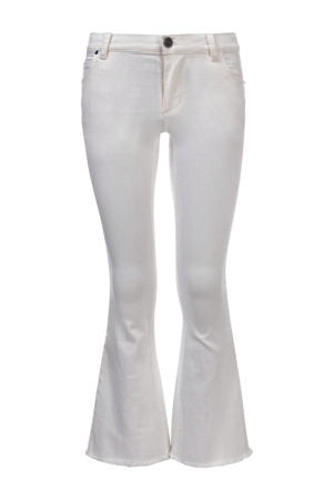 flared jeans wit