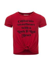 LOOXS 10sixteen T-shirt met tekst rood, Rood
