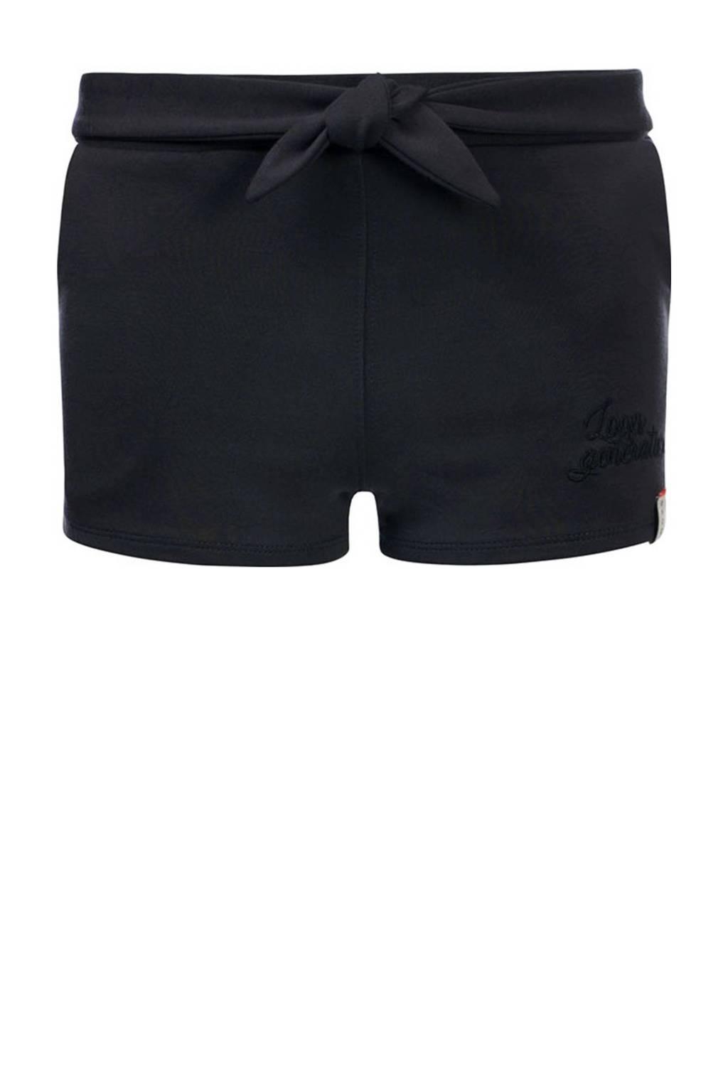 LOOXS 10sixteen slim fit short met zijstreep zwart/wit, Zwart/wit