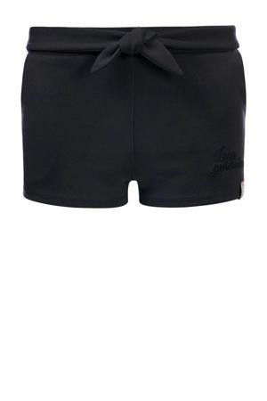 slim fit short met zijstreep zwart/wit