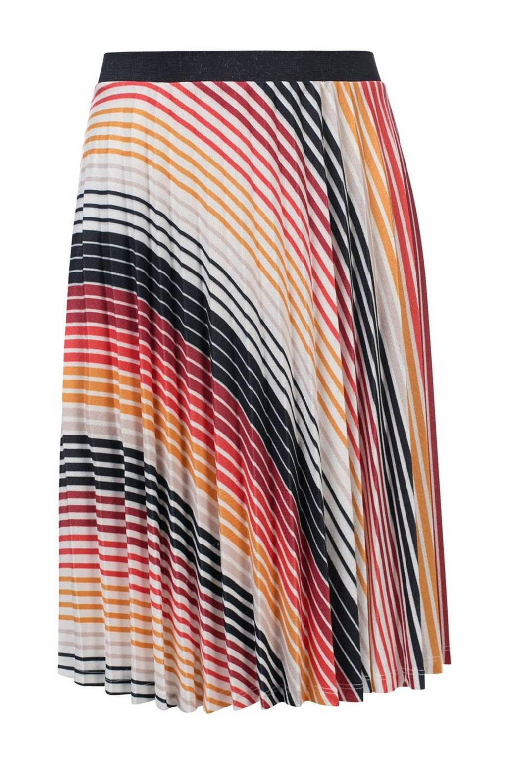 LOOXS 10sixteen gestreepte rok rood/multicolor