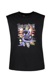 Cars T-shirt Josy met printopdruk zwart, Zwart
