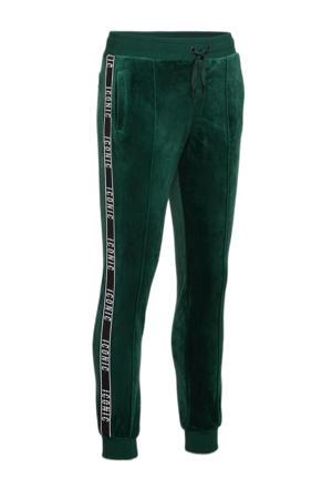 fluwelen sweatpants Icony met contrastbies groen