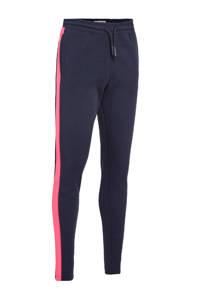 Cars regular fit joggingbroek Sheya met zijstreep donkerblauw/fuchsia, Donkerblauw/fuchsia