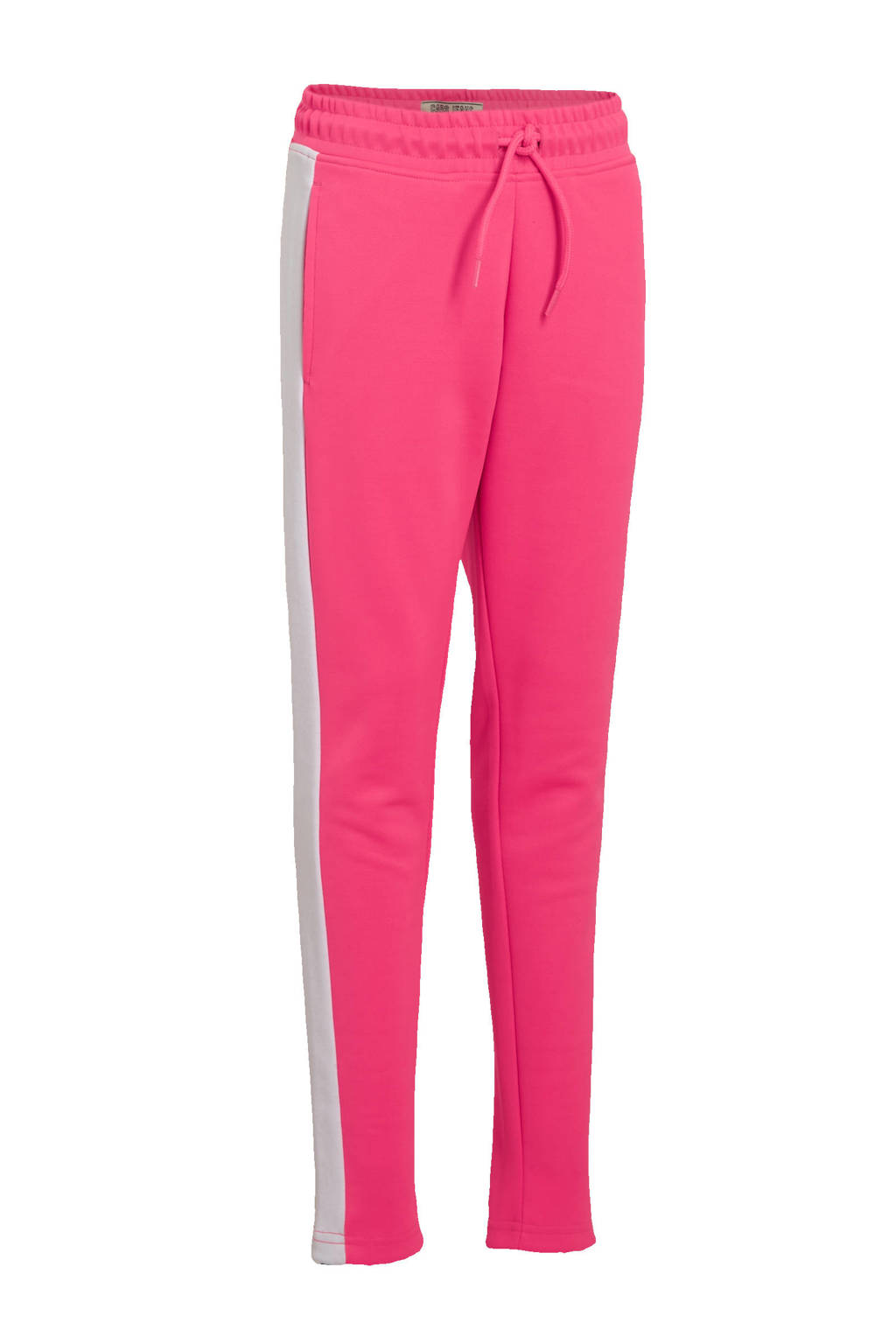 Cars regular fit joggingbroek Sheya met zijstreep fuchsia/wit, Fuchsia/wit