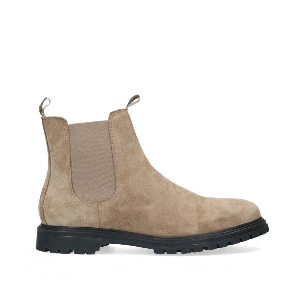 Sacha   suède chelsea boots beige, Beige
