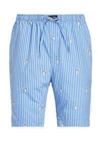 POLO Ralph Lauren gestreepte pyjamashort lichtblauw/wit, Lichtblauw/wit