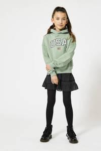 America Today Junior rok Riley met all over print zwart/wit, Zwart/wit