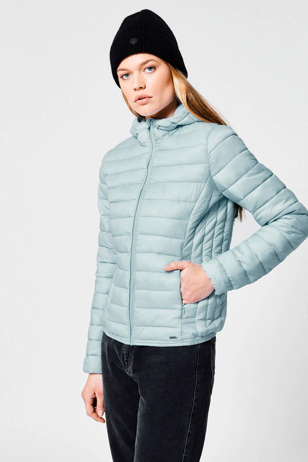 America Today gewatteerde jas Jacky Hood lichtblauw, Lichtblauw
