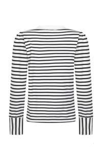 Tramontana gestreepte sweater wit/zwart, Wit/zwart
