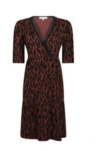 Tramontana A-lijn jurk met all over print bruin/zwart, Bruin/zwart